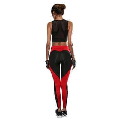 gran descuento d813c bb144 Red and Black Yoga Leggins